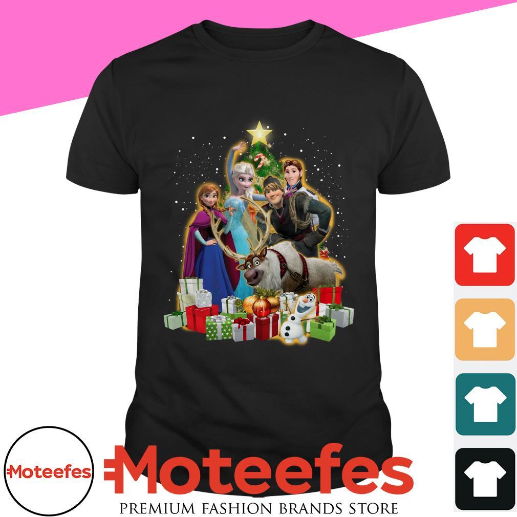 Disney Frozen Characters Christmas Tree t-shirt, hoodie, sweater and longsleeve tee