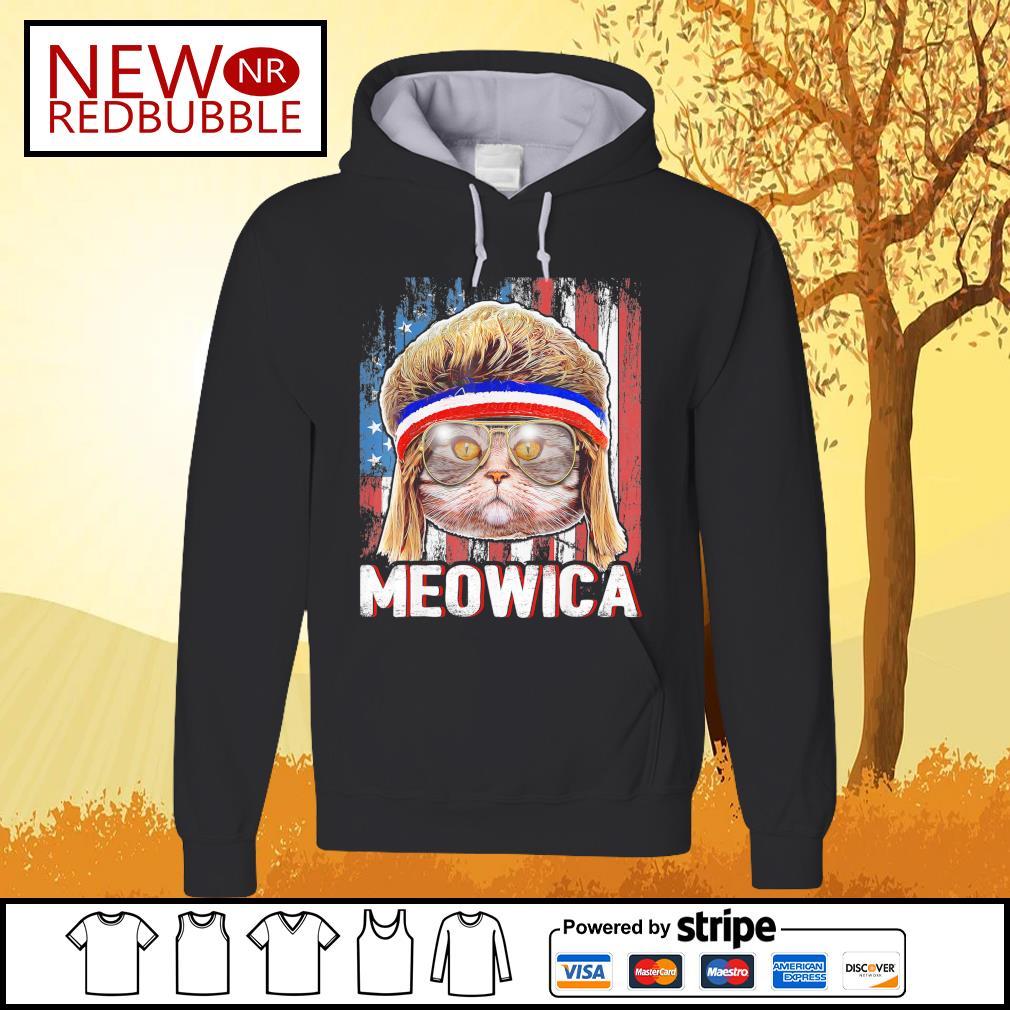Cat Meowica flag American s Hoodie