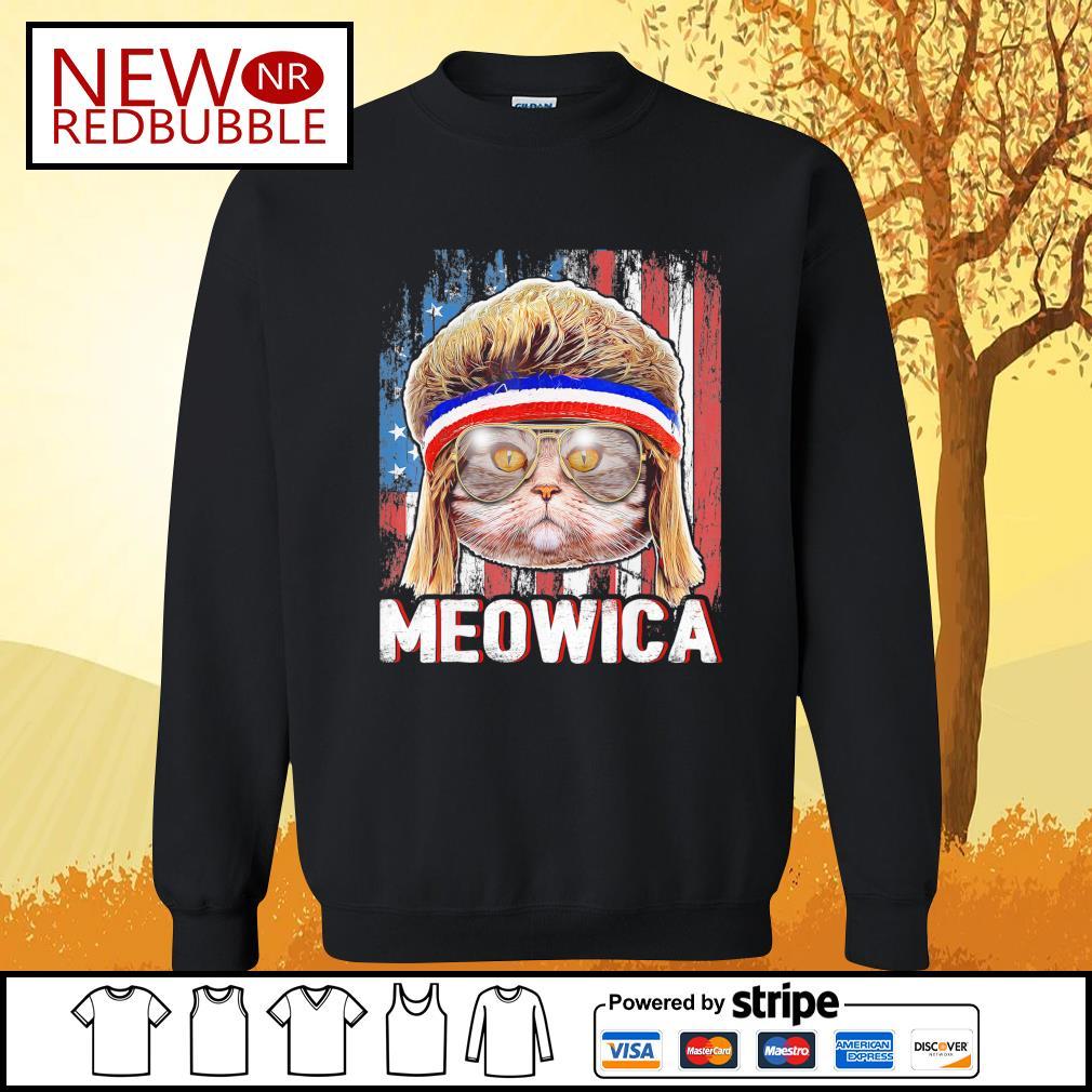Cat Meowica flag American s Sweater