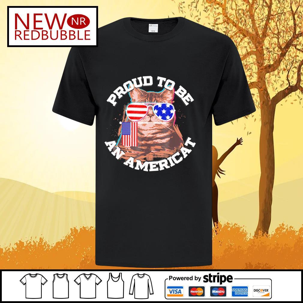 Cat proud to be an Americat shirt