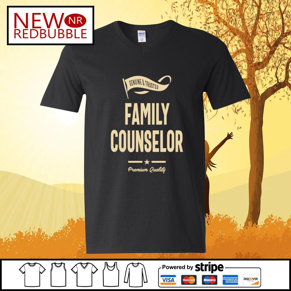 Genuine and trusted family counselor premium quality s V-neck-T-shirt